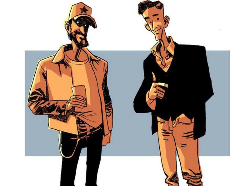 Gabriel Bá e Fábio Moon em desenho