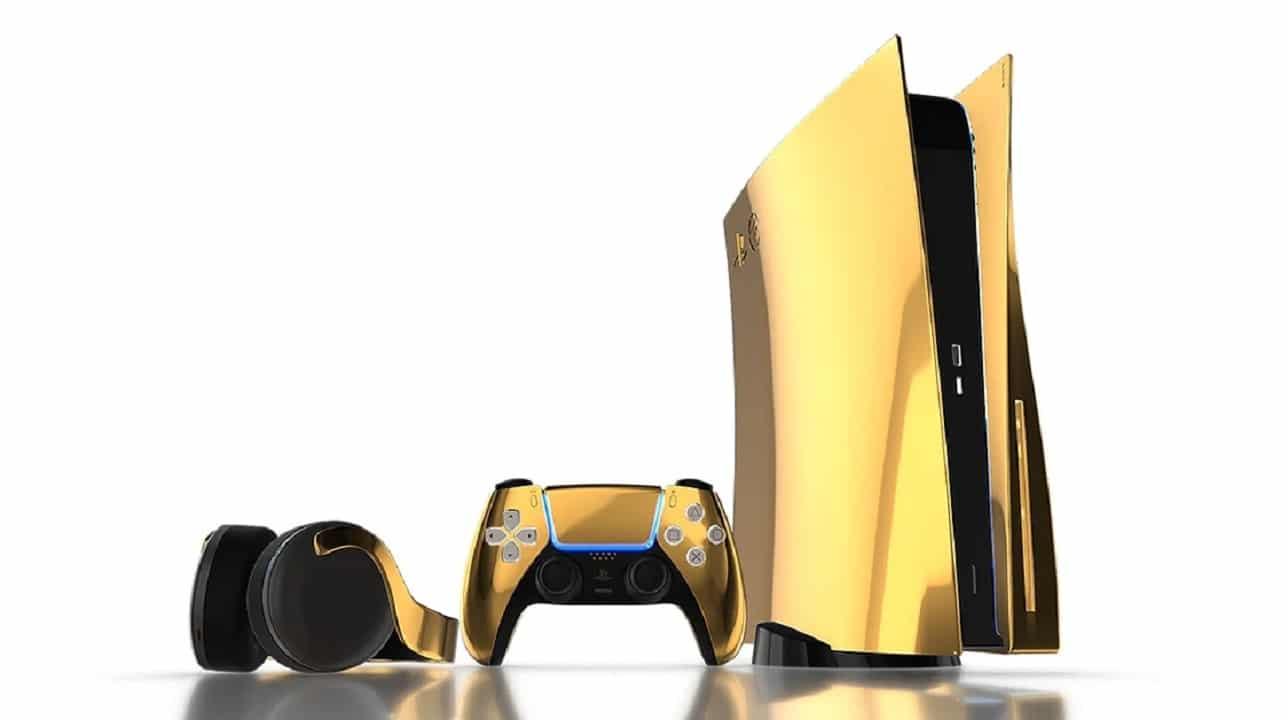PS5 terá versão banhada a ouro