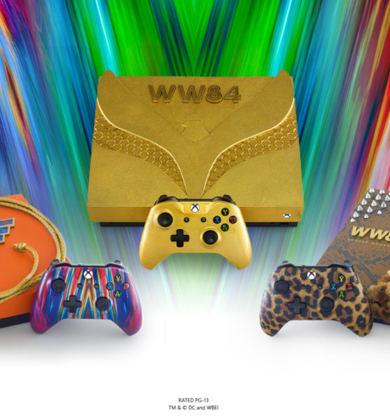Microsoft revela Xbox One X temático de Mulher-Maravilha 1984