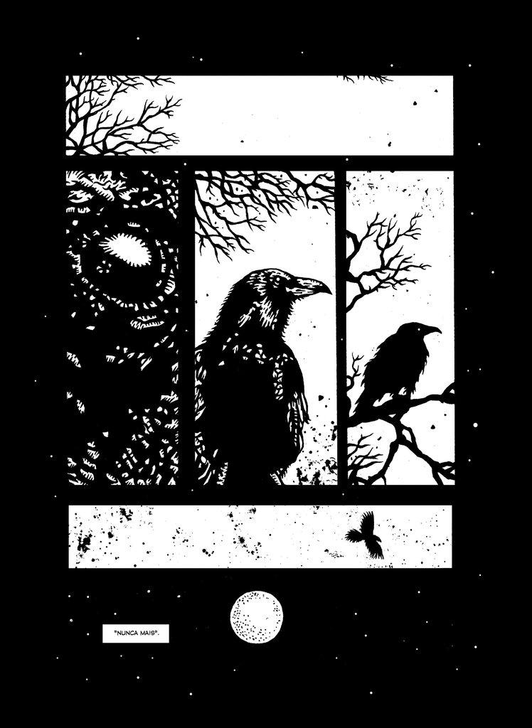 o corvo página