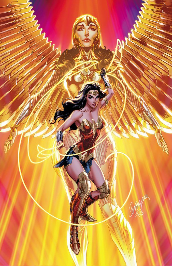 Wonder Woman 1984 variant cover to Batman 104 by J. Scott Campbell