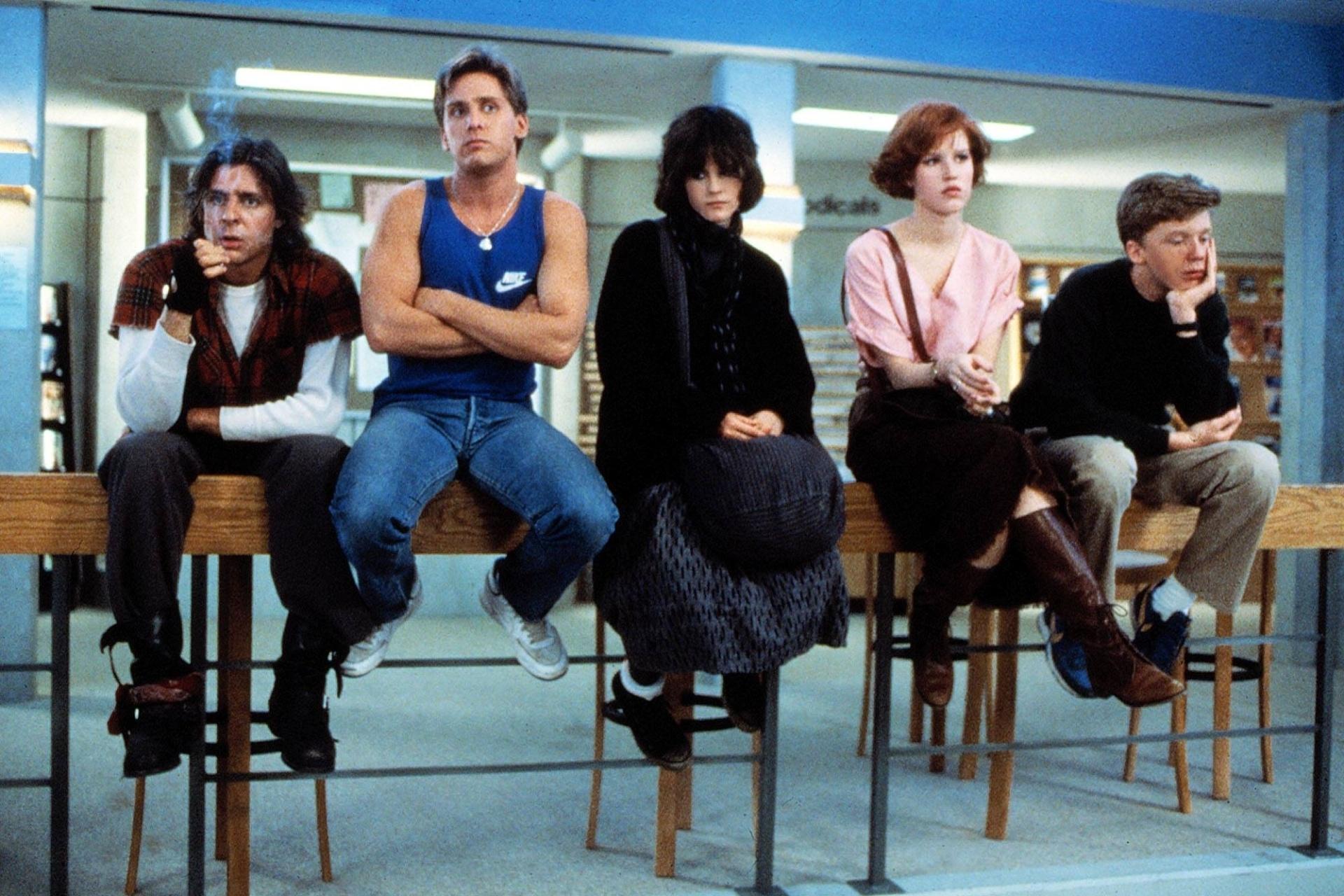 cena de clube dos cinco do diretor john hughes