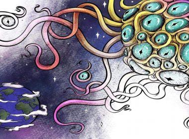 lovecraft para colorir