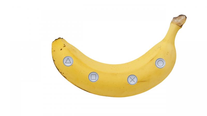 ps5 controle banana