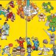 Vários personagens da desenvolvedora de jogos Capcom reunidos.